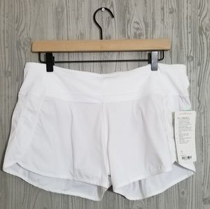 NWT Lululemon Run Times Short white 10